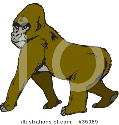 Monkey Clipart #35989 by Dennis Holmes Designs