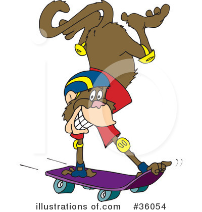 Royalty-Free (RF) Monkey Clipart Illustration by Dennis Holmes Designs - Stock Sample #36054