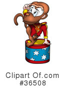 Royalty-Free (RF) Monkey Clipart Illustration #36508
