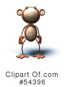 Royalty-Free (RF) Monkey Clipart Illustration #54396