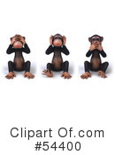 Royalty-Free (RF) Monkey Clipart Illustration #54400