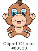 Royalty-Free (RF) Monkey Clipart Illustration #69030