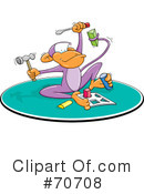 Royalty-Free (RF) Monkey Clipart Illustration #70708