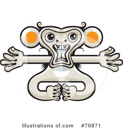 Royalty-Free (RF) Monkey Clipart Illustration by Steve Klinkel - Stock Sample #70871