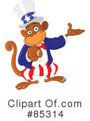 Royalty-Free (RF) Monkey Clipart Illustration #85314