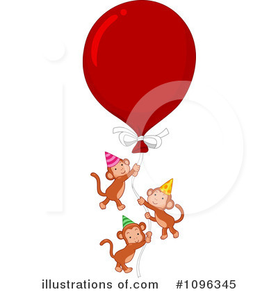 Party Balloons Clipart #1096345 by BNP Design Studio