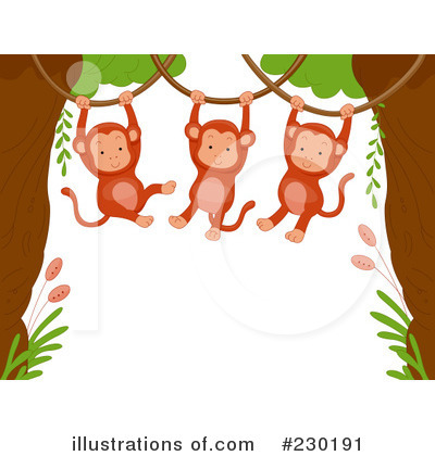 Monkey Clipart #230191 by BNP Design Studio