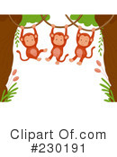 Royalty-Free (RF) Monkeys Clipart Illustration #230191