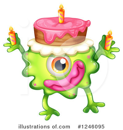 Birthday Cake Clipart #1246095 by Graphics RF