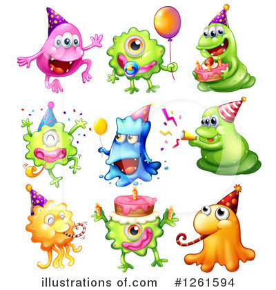 Monster Clipart #1261594 by Graphics RF