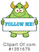 Monster Clipart #1351679 by Hit Toon