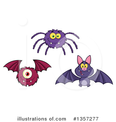 Flying Bat Clipart #1357277 by Hit Toon