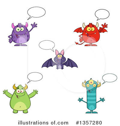 Flying Bat Clipart #1357280 by Hit Toon