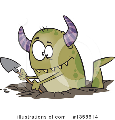 Monster Clipart #1358614 by toonaday