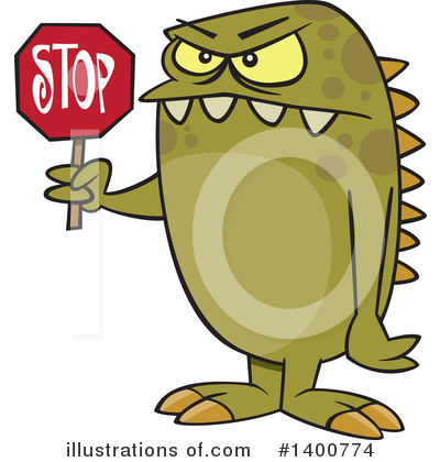 Monster Clipart #1400774 by toonaday