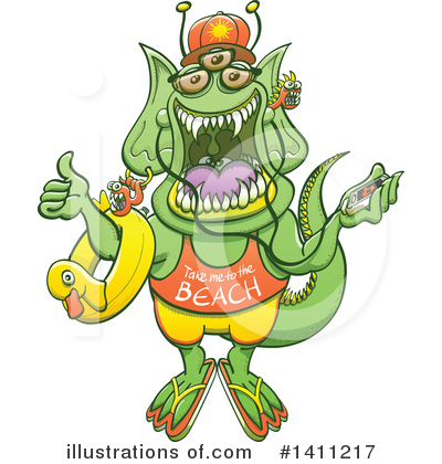 Royalty-Free (RF) Monster Clipart Illustration by Zooco - Stock Sample #1411217