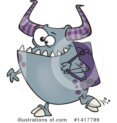 Monster Clipart #1417786 by toonaday