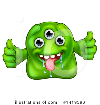 Germs Clipart #1419396 by AtStockIllustration