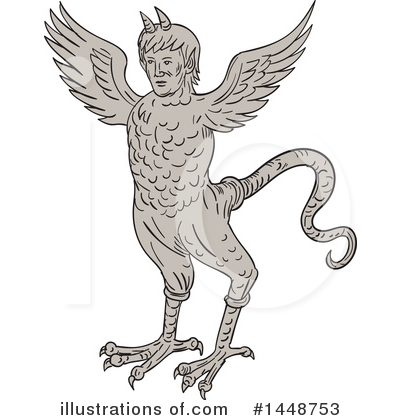 Royalty-Free (RF) Monster Clipart Illustration by patrimonio - Stock Sample #1448753