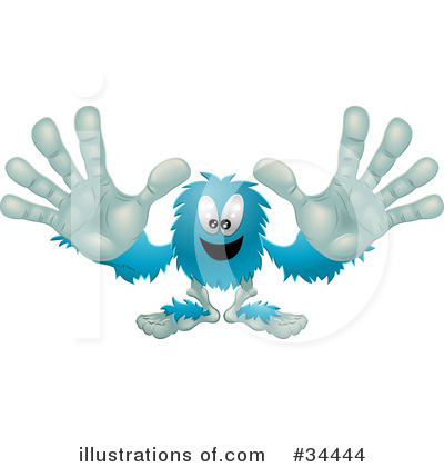 Royalty-Free (RF) Monster Clipart Illustration by Geo Images - Stock Sample #34444