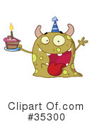 Monster Clipart #35300 by Hit Toon
