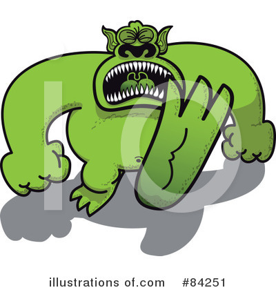 Royalty-Free (RF) Monster Clipart Illustration by Zooco - Stock Sample #84251