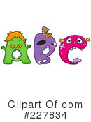 Royalty-Free (RF) monster letters Clipart Illustration #227834