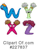 Royalty-Free (RF) Monster Letters Clipart Illustration #227837