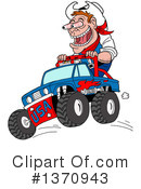 Monster Truck Clipart #1370943 by LaffToon