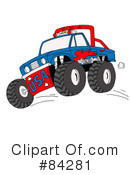 Monster Truck Clipart #84281 by LaffToon