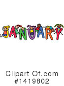 Royalty-Free (RF) Month Clipart Illustration #1419802