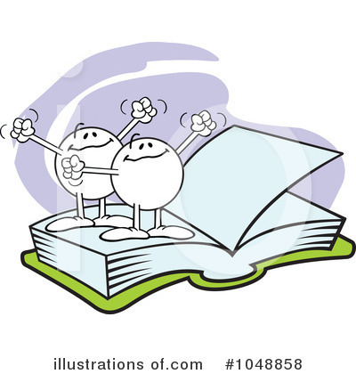 Reading Clipart #1048858 by Johnny Sajem