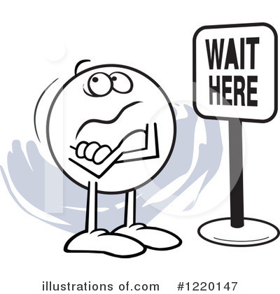 Waiting Clipart #1220147 by Johnny Sajem