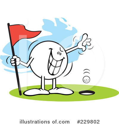 Golfing Clipart #229802 by Johnny Sajem