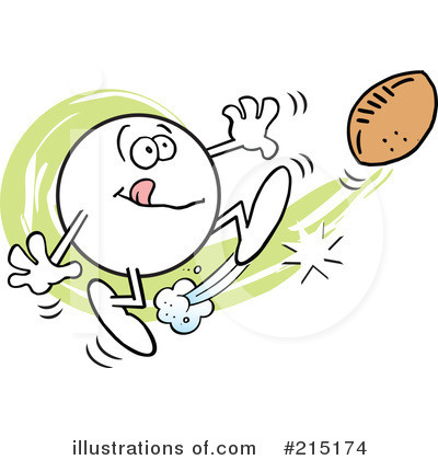 Football Clipart #215174 by Johnny Sajem