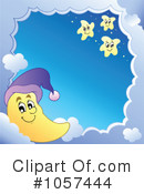 Royalty-Free (RF) Moon Clipart Illustration #1057444