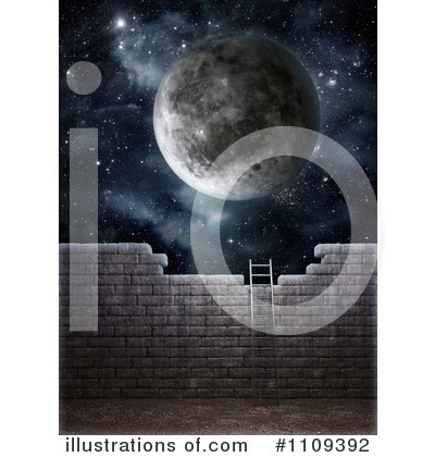 Royalty-Free (RF) Moon Clipart Illustration by Mopic - Stock Sample #1109392