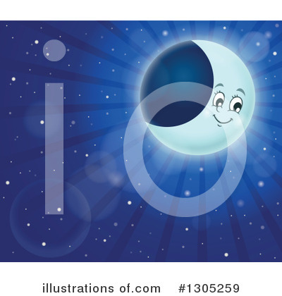 Moon Clipart #1305259 by visekart