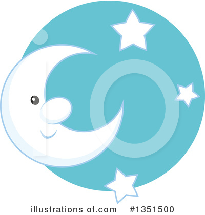 Moon Clipart #1351500 by Alex Bannykh