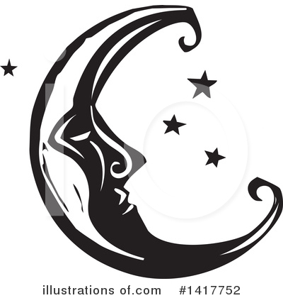 Royalty-Free (RF) Moon Clipart Illustration by xunantunich - Stock Sample #1417752
