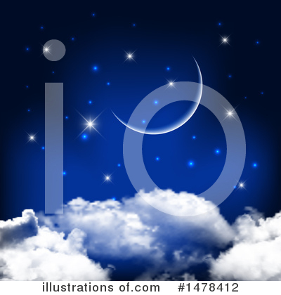 Royalty-Free (RF) Moon Clipart Illustration by KJ Pargeter - Stock Sample #1478412