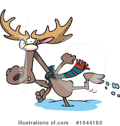 Moose Clipart #1044163 by toonaday