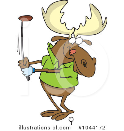 Moose Clipart #1044172 by toonaday