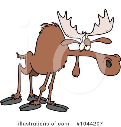 Moose Clipart #1044207 by toonaday