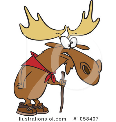 Moose Clipart #1058407 by toonaday