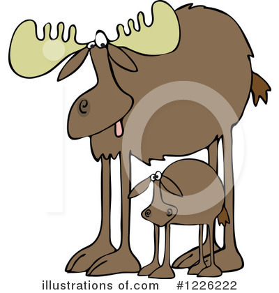 Royalty-Free (RF) Moose Clipart Illustration by djart - Stock Sample #1226222