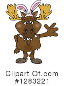 Moose Clipart #1283221 by Dennis Holmes Designs
