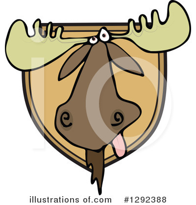 Royalty-Free (RF) Moose Clipart Illustration by djart - Stock Sample #1292388