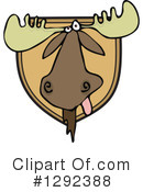 Royalty-Free (RF) Moose Clipart Illustration #1292388