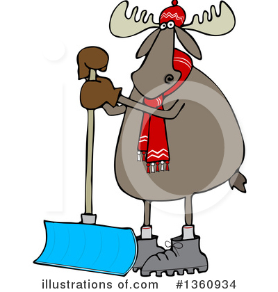 Moose Clipart #1360934 by djart